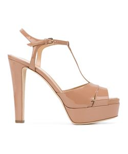 Sergio Rossi | Patent Open Toe Sandals Size 36 Leather/Patent
