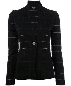 Giorgio Armani | Grid Fitted Jacket 42 Polyamide/Polyester/Spandex/Elastane/Viscose