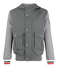Moncler Gamme Bleu | Striped-Cuff Hooded Jacket 5 Virgin
