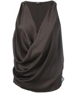 Jil Sander Navy | Wrap Sleeveless Blouse Size 38