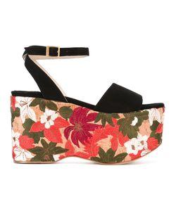Paloma Barceló   Embroidered Platform Sandals