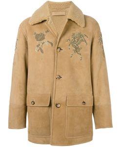 Alexander McQueen | Пальто Из Овчины С Вышивкой