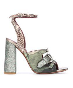 Antonio Marras | Snakeskin Effect Detail Sandals 38 Leather/Cotton