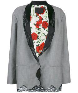 Alexander Wang | Lace Trim Pinstriped Blazer Size 2