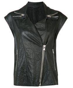 Sylvie Schimmel | Sleeveless Biker Jacket 36 Goat Skin