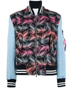 Forte Forte | Palm-Print Bomber Jacket 40 Bamboo/Cotton/Polyester