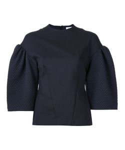 Bianca Spender | Quilted Ponte Academy Blouse 8