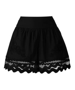 Alberta Ferretti | Scalloped Sheer Hem Shorts