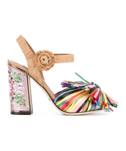 Dolce & Gabbana | Fringed Embellished Sandals