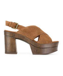 L' Autre Chose | Lautre Chose Cigar Sandals 40 Calf Leather/Calf Suede/Rubber