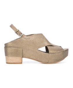 Roberto Del Carlo | Platform Sandals 37.5 Calf Leather/Leather