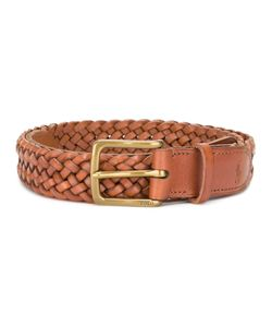 Polo Ralph Lauren | Striped Belt 85 Acrylic/Calf Leather