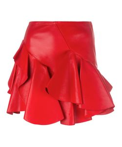 Alexander McQueen | Ruffled Mini Skirt 38 Cotton/Lamb Skin