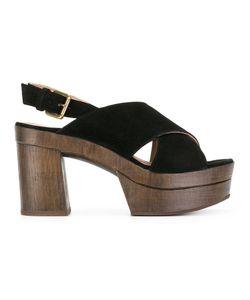 L' Autre Chose | Lautre Chose Crossed Sandals 38 Calf Leather/Calf Suede/Rubber