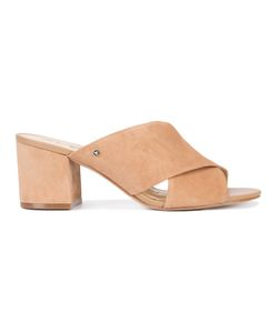 Sam Edelman | Cross Strap Mules 9.5 Suede/Leather