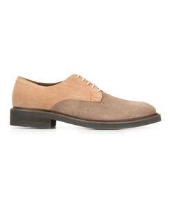 Eleventy   Bicolour Derby Shoes 44 Suede/Leather/Rubber