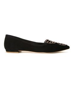 Sophia Webster | Bibi Studded Butterfly Ballerinas 39 Leather/Suede