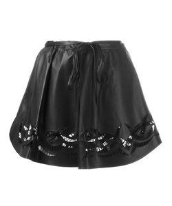Alexander Wang   Embroide Mini Skirt 4 Lamb Skin/Cotton