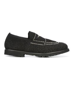 Rocco P. | Contrast Front Loafers 39 Lurex/Leather/Rubber