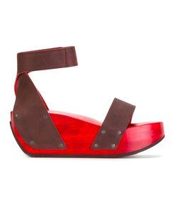 Trippen | Gleam Platform Sandals 39 Leather/Wood/Rubber