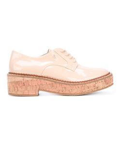 ARMANI JEANS | Patent Platform Lace Up Shoes