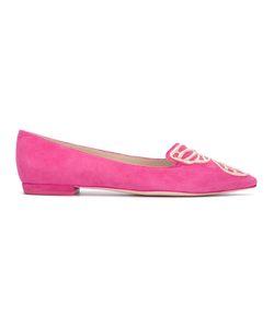 Sophia Webster   Magenta Ballerina Shoes 35 Suede/Leather/Viscose