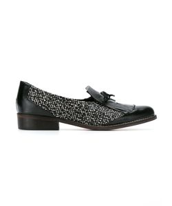 Manolita | Leather And Knit Loafers
