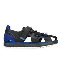 Camper | Hoop And Loop Sandals 40 Leather/Nylon/Rubber