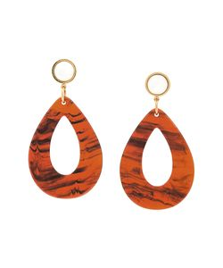 LIZZIE FORTUNATO JEWELS | Tortoise Teardrop Earrings Women