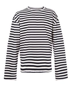 JUUN.J | Striped Text Detail Longsleeve Top