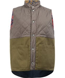 Herno | Bi-Colour Quilted Panel Gilet Size 48