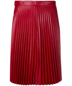 Red Valentino | Pleated Skirt 38 Calf Leather