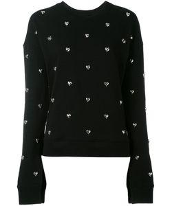 Zoe Karssen | Heart Stud Sweatshirt Size Medium