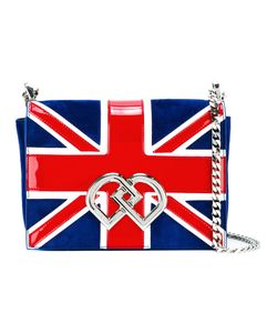 Dsquared2 | Union Jack Clutch Calf Suede/Patent Leather