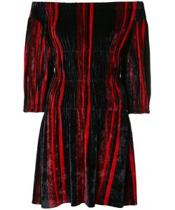 Sonia Rykiel | Off-Shoulder Velvet Dress Small Polyamide/Viscose