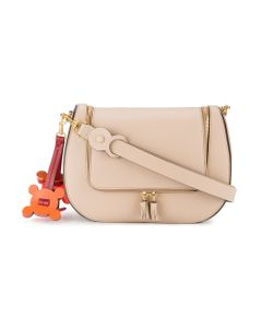 Anya Hindmarch | Vere Saddle Laser-Cut Shoulder Bag