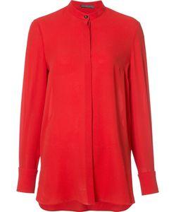 Alexander McQueen | Mandarin Collar Blouse 38 Silk