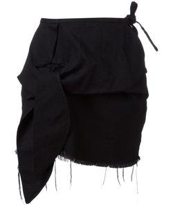 Marques Almeida   Marquesalmeida Asymmetric Frayed Hem Skirt 8 Cotton