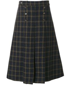 Mulberry | Checked A-Line Skirt Women