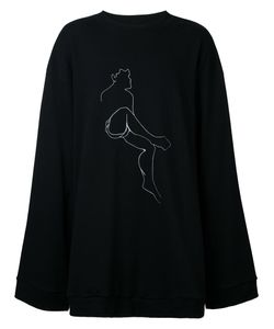 DRESSEDUNDRESSED | Human Figure Print Long Sweatshirt Size