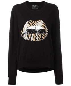 Markus Lupfer | Sequin Lips Jumper Xs Cotton/Sequin