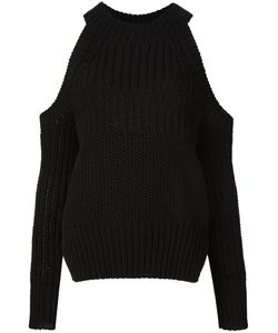 Diesel Black Gold | Cut-Off Shoulders Jumper Womens Size Small Cotton