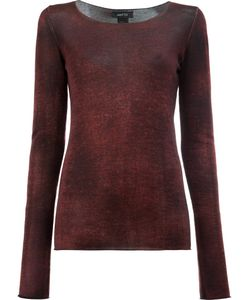 Avant Toi | Washed Effect Jumper Small Silk/Cashmere