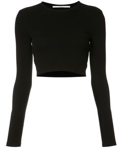 ROSETTA GETTY   Cropped Blouse Large Cotton