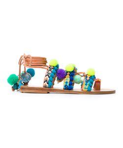 ELINA LINARDAKI | Mermaid Motel Embellished Sandals Size 41