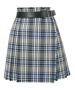 Alexander McQueen | Checked Wrap Skirt Calf Leather/Cupro/Virgin