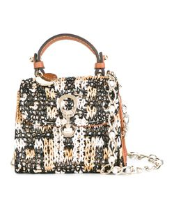 Ermanno Scervino | Crochet Panel Crossbody Bag Viscose/Leather