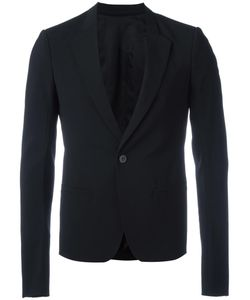 Rick Owens | One Button Blazer 48 Virgin Wool/Spandex/Elastane/Viscose/Cotton