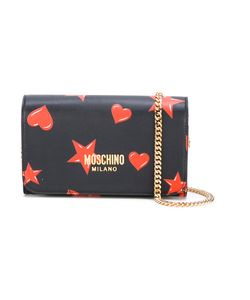 Moschino   Star And Heart Print Bag Leather/Metal Other