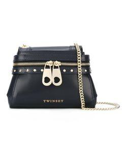 Twin-set | Front Zip Crossbody Bag Leather/Metal